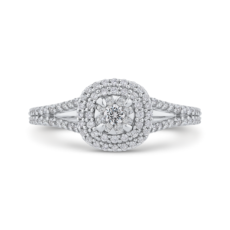 1/3 ct Round Diamond 10K White Gold Fashion Ring
