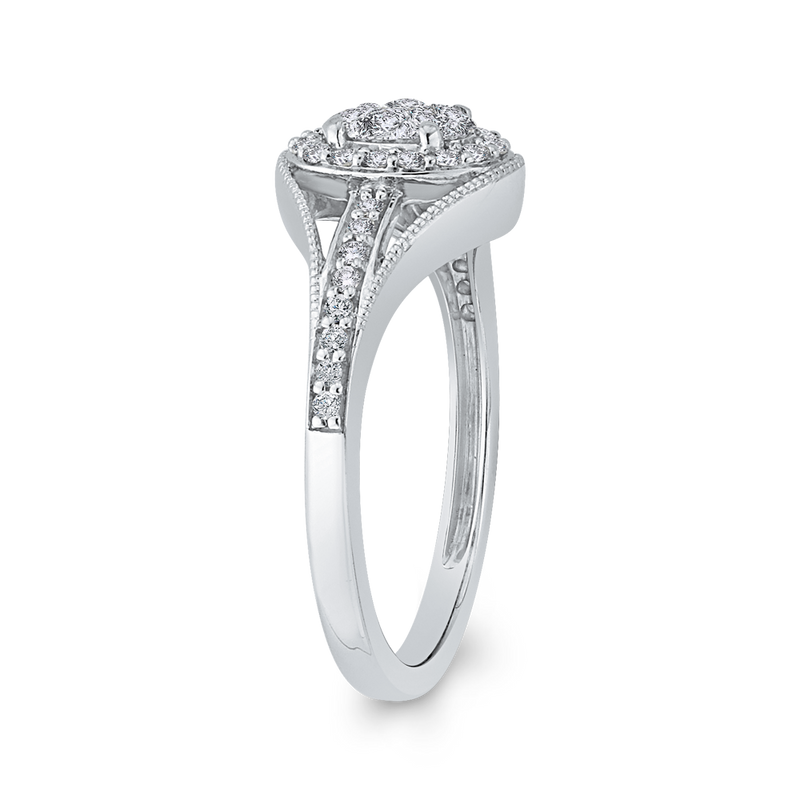 10K White Gold 1/3 ct White Diamond Fashion Ring