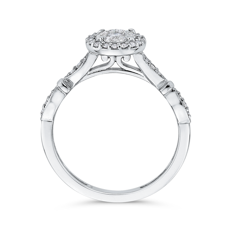 1/3 ct White Diamond 10K White Gold Fashion Ring