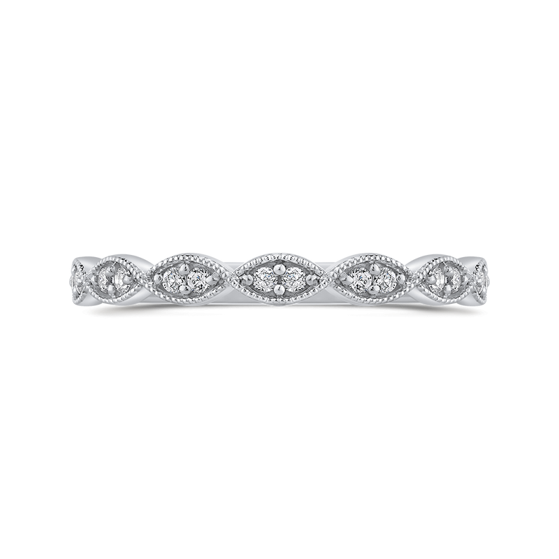 10K White Gold .14 Ct Diamond Fashion Ring