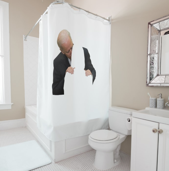 #MeToo Biden Shower Curtain
