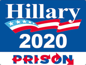 Hillary Clinton 2020 Prison Stickers X 10