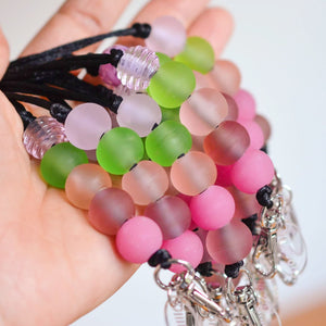 APPLE BLOSSOM GLASS LANYARDS