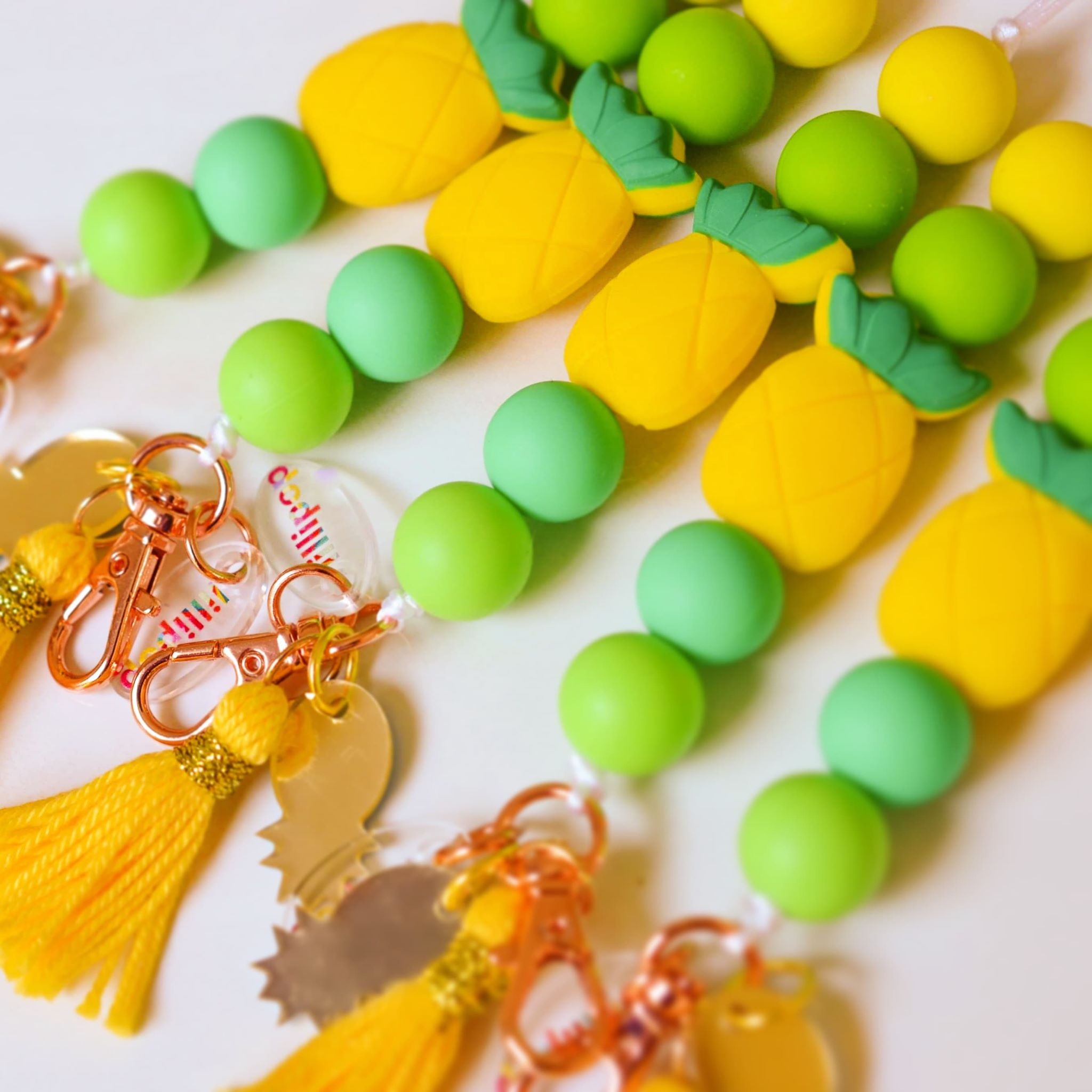PINEAPPLE SILICONE LANYARDS
