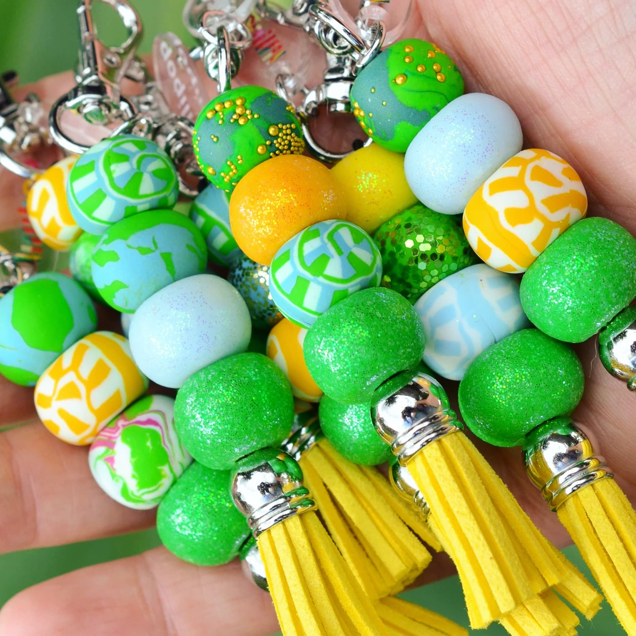 YELLOW & GREEN KEYCHAINS