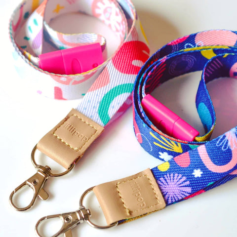 DELUXE FABRIC LANYARDS - TWO FOR THE PRICE OF ONE!