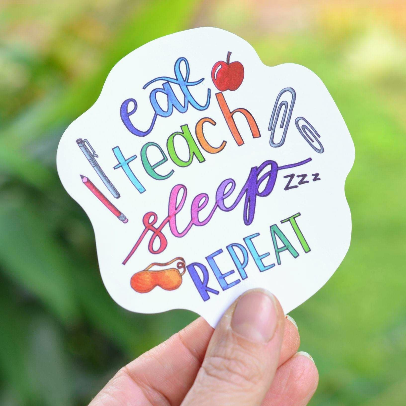 WATERPROOF VINYL TEACHER STICKER