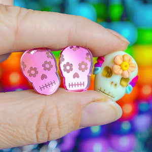 EARRINGS - SUGAR SKULL STUDS