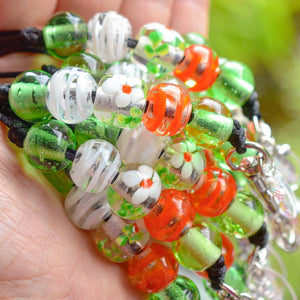 ORANGE BLOSSOM GLASS LANYARD