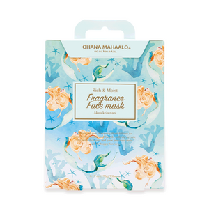 OHANA MAHAALO Fragrance Face Mask Akua Ko'A Nani [Box of 7 Pieces]