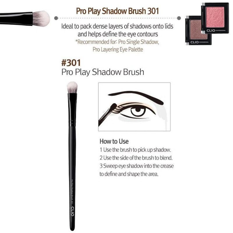 CLIO Pro Play Shadow Brush 301