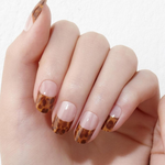 Load image into Gallery viewer, DASHING DIVA Gloss Gel Strip Amber Marble Collection Mani French Leopard GVP311