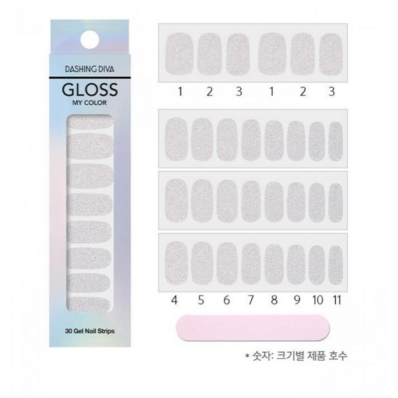 DASHING DIVA Gloss My Color Mani Silver Powder GC31