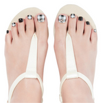 Load image into Gallery viewer, DASHING DIVA Magic Gel Strip Pedi Classic Gingham DGST113P