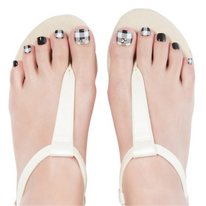 [BEST BUY] DASHING DIVA Magic Gel Strip Pedi Classic Gingham DGST113P