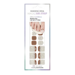 Load image into Gallery viewer, DASHING DIVA Magic Gel Strip Pedi Earl Gray Powder DGST110P