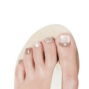 DASHING DIVA Magic Gel Strip Pedi Earl Gray Powder DGST110P