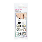 Load image into Gallery viewer, DASHING DIVA Magic Gel Strip Pedi Pearl And Glitter DGST39P