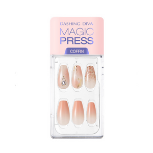 DASHING DIVA Magic Press Coffin Mani Misty Coral MDR718CF