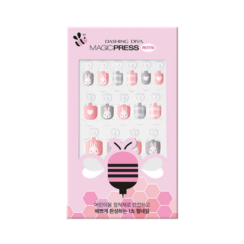 DASHING DIVA Magic Press Kids Mani Cozy Rabbit MPKD44