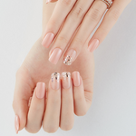 Load image into Gallery viewer, DASHING DIVA Magic Press Long Mani Glittering Peach MDR437SL