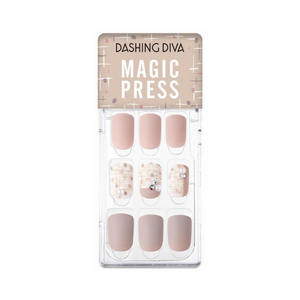 DASHING DIVA Magic Press Autumn Closet Mani Beige Tweed MDR764