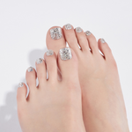 Load image into Gallery viewer, DASHING DIVA Magic Press Oh California Pedi Silver Sparkling MDR676P