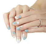 Load image into Gallery viewer, DASHING DIVA Magic Press Oval Mani Heavenly Blue MJP036