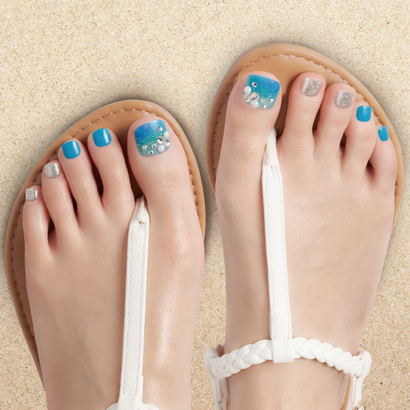 DASHING DIVA Magic Press Pedi Blue Lagoon MDR167PP