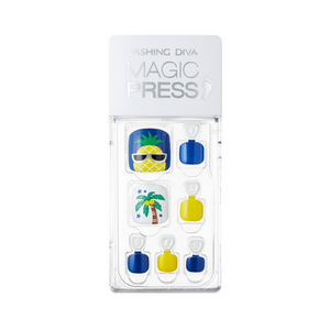 Dashing Diva Magic Press Pedi Chic Pineapple MDR371P