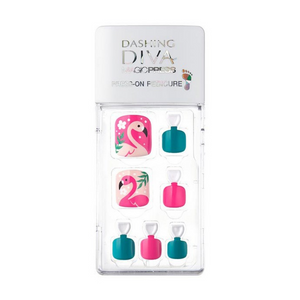 [BEST BUY] DASHING DIVA Magic Press Pedi Flamingo Land MDR186P