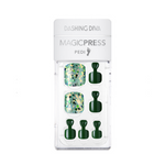 Load image into Gallery viewer, DASHING DIVA Magic Press Pedi Green Twinkle MDR748P