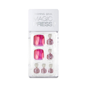 Dashing Diva Magic Press Pedi Magenta Gem MDR361P