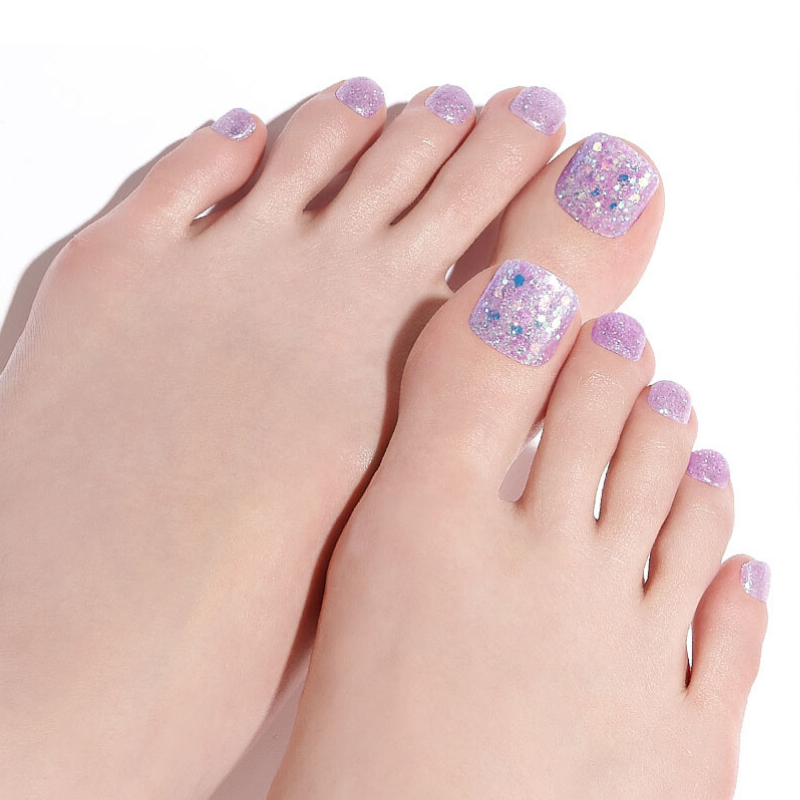 DASHING DIVA Magic Press Pedi Purple Twinkle MDR745P