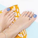 Load image into Gallery viewer, DASHING DIVA Magic Press Premium Series Cruise Collection Pedi Martini Blue MPR192P