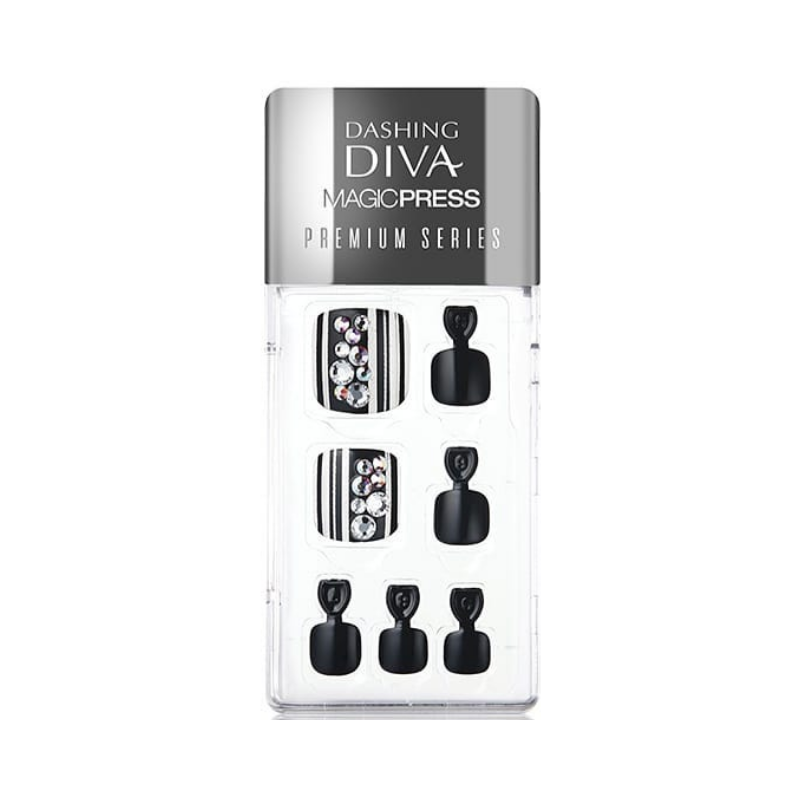 DASHING DIVA Magic Press Premium Series Pedi Crystal Rain MDR169PP
