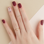 Load image into Gallery viewer, DASHING DIVA Magic Press Short Mani Brick Red Glow MDR492SS (Fall)