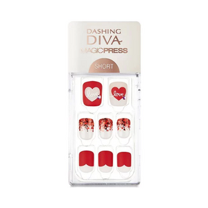 DASHING DIVA Magic Press Short Mani Love Letter MDR441SS