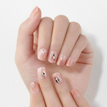Load image into Gallery viewer, DASHING DIVA Magic Press Glitter Bomb Short Mani Lucid Pink MDR854SS
