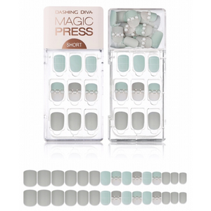 DASHING DIVA Magic Press Short Mani Mint Grey MDR489SS (Fall)