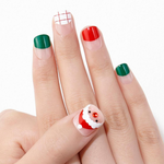 Load image into Gallery viewer, DASHING DIVA Magic Press Wonder Red Short Mani Rudolph Santa MDR827SS