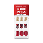Load image into Gallery viewer, DASHING DIVA Magic Press Wonder Red Short Mani Surprise Me MDR831SS