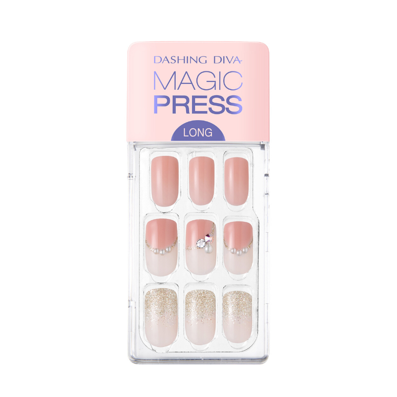DASHING DIVA Magic Press Square Long Mani Soft Coral MDR716SL