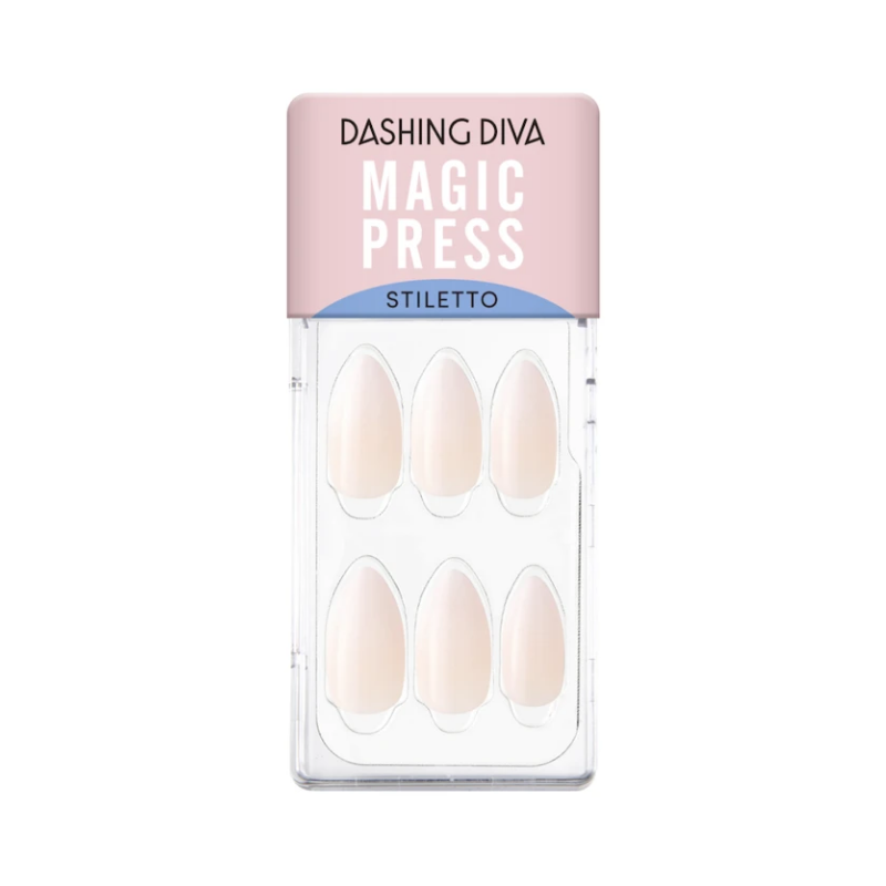DASHING DIVA Magic Press Stiletto Mani Clean White MAU014ST (The Shape Collection)