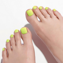 Load image into Gallery viewer, DASHING DIVA Magic Press Tone Up Pedi Neon Yellow MDR832P