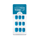 Load image into Gallery viewer, DASHING DIVA Magic Press Tone Up Short Mani Cobalt Blue MDR738SS