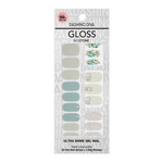 Load image into Gallery viewer, DASHING DIVA Gloss Gel Strip Big Stone Mani Calm Emerald GVP189B