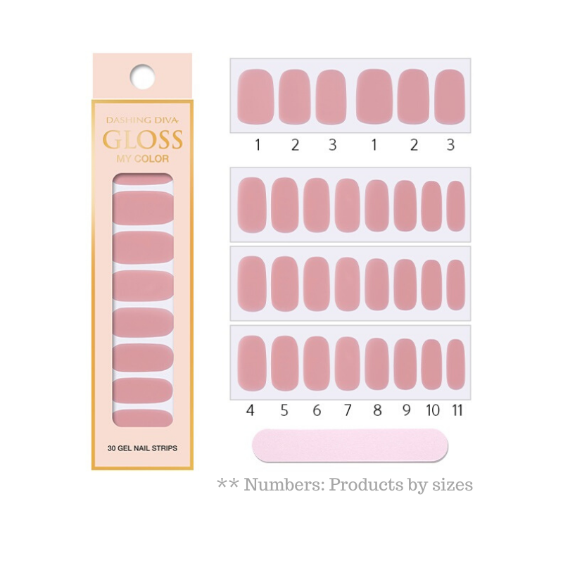 DASHING DIVA Gloss My Color Mani Classic Pink GC03