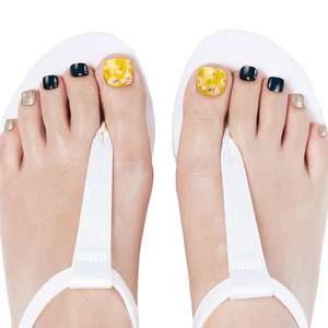 DASHING DIVA Magic Gel Strip Pedi Living Yellow GPS03