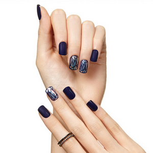 [BEST BUY] DASHING DIVA Magic Press Mani Navy Prism MDR011